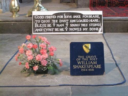 莎士比亞的墓碑碑文,令人讀了掉下巴。