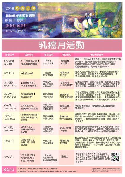 乳癌月活動海報